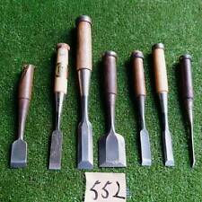 Japanese Vintage Chisel Nomi 7 pcs carpentry wooden Tool Shape Japan