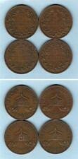 German East Africa .  1909 5 Heller x 4 Coins..  VF-gVF