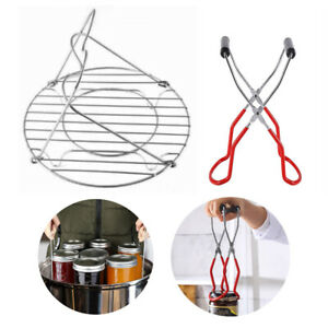 Canning Rack Canning Supplies Kit for Hot Water Canner with Handle and Cannin