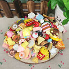 10Pcs Fast food&Rilakkuma Squishy Squeeze Charms Slow Rising Toy Collection Gift