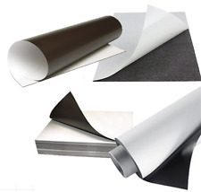 10X Magnetic Sheets A3 X 0.8mm PVC White Glossy whiteboard Flexible Rubber