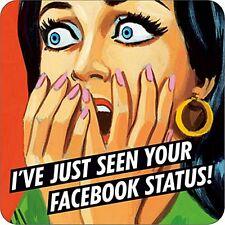 I'Ve nur Gesehen Ihre Facebook Status Getränke Untersetzer / Untersetzer (DM)