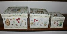 Set of 3 Inspirational Gardening Theme Nesting Boxes - New