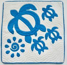 2 Hawaiian quilt handmade hand quilted/appliquéd cushions pillow covers AB