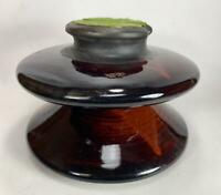 "Large High Voltage Porcelain Ceramic Brown Glazed 7"" x 10"" Insulator Locke 1244"