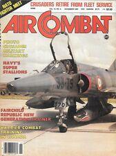 Air Combat Nov.1982 Navy Sikorsky Super Stallion Danish Gulfstream USN Crusader