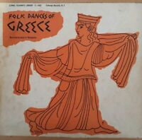 Folk Dances Of Greece Vinyl LP.1956 Ethnic Folkways Library FE 4467.