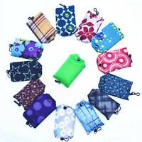 1X Foldable Reusable Roll Up Bag Eco Shoulder Shopping Handbag Fold Pouch Newly