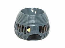 Round Grey Gloss Oil Burner for Aromatherapy Oils &  Wax Melts