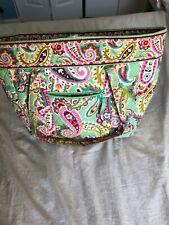 VERA BRADLEY GREEN LAGOON Handbag TOTE Beach, baby, book or carry on bag