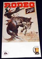 Frank Frazetta 1978 POSTER Western Rodeo Tour Cowboy Schlitz Beer Sponsor 18x33