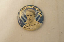 Cricket -Scarce - Vintage 1950 Argus - Player Badge - Ray Lindwall - N.S.W.