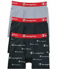 Champion Men's Performance Boxer Briefs Logo Sz Large 3-Pk