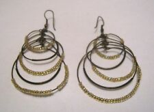 bronze tone metal circular earrings Lovely Dangle style mini bead