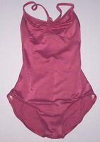 NWT New Capezio Shimmery Camisole Cami Leotard Leo Strappy Back Almandine Women