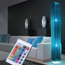 LED Decken-Fluter Steh Leuchte Textil Schirm blau Stand Lampe RGB Fernbedienung