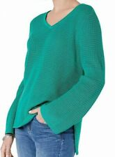 Style & Co. Women's Sweater Green Size XL V-Neck Pullover Waffle Knit $54 #128