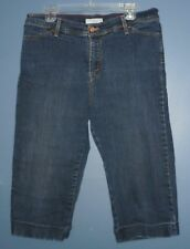 LEVI STRAUSS Perfectly Slimming 545 Capri Jeans Cropped Size 16 Blue Stretch