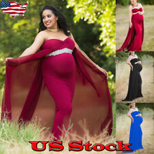 Pregnant Women Strapless Sleevelesss Maxi Dress Gown Maternity Photography Prop