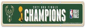 Milwaukee Bucks 2021 NBA Finals Champions flag 2x8ft banner