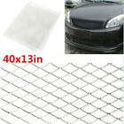 40x13in Grille Mesh Net Silver Tone Aluminum Grill Fit For Car Fender Hood Vent