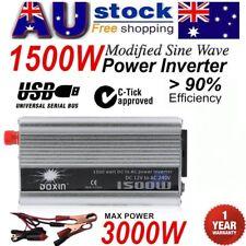 1500W-3000W DC12V to AC220V Portable Car Power Inverter Charger Converter USB AU
