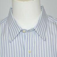 BROOKS BROTHERS Slim Fit Non Iron Cotton Dress Shirt 16.5 - 34 French Cuff