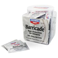 New! Birchwood Casey Barricade Take-Alongs 100-pack Cloths Rust Protection 33170