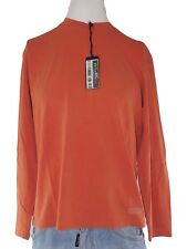 trussardi jeans maglia uomo arancione manica lunga taglia xl extra large