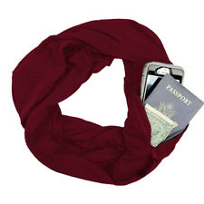 Newly Women Winter Convertible Infinity Scarf with Pocket Loop Zipper Pocket EP