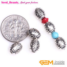 6mmx8mm 50x Oval Alloy Metal Loose Spacer Beads for Jewelry Making Hole 2mm