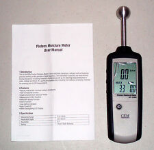 Ruby Electronics DT-128M Non-Contact Pinless Moisture Meter dampness indicator !