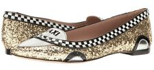 Kate Spade Go Taxi Gold Glitter Patent Leather Flats Shoes Size 8 New in Box