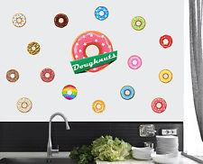 Doughnuts Pack of 16 Wall Art Stickers Peel&Stick Decals Krispy Kreme Donuts