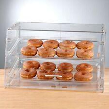 NEW! 2 Tray Choice Bakery Display Case Front Rear Door Donut Pastry Hotel Store