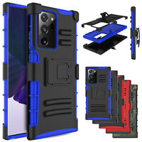 For Samsung Galaxy Note 20/Ultra/A71 5G/A11 Holster Case Cover Stand Belt Clip