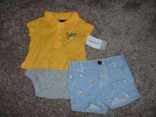Carter's Newborn Boy Little Captain Shorts Set Baby Size NB Bodysuit Summer NWT