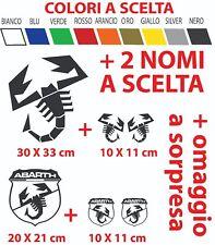 ADESIVI ABARTH SCORPIONE FIAT 500 GRANDE PUNTO tuning cofano sportello racing
