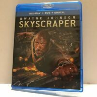 Skyscraper Movie with Dwayne Johnson Blu-Ray Disc Only (No DVD No Digital)