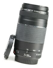 Canon EF 75-300mm F4-5.6 MK III Autofocus Zoom Lens + Front & Rear Caps EXC