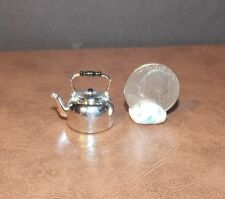 Dollhouse Miniature Silver Tea Kettle Chrysnbon 1:12 scale E65 Dollys Gallery