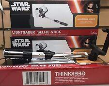 """Brand New Disney Star Wars Selfie Stick Light Saber Adjustable 40"""" Length"""