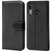 Book Case für Motorola Moto E6 Plus Hülle Tasche Flip Cover Handy Schutz Hülle