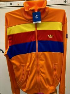 NEW MENS 2006 ADIDAS CG (CARLO GRUBER) ZIP TRACK TOP WITH TAGS - SIZE XL - RARE