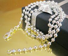 Kugelkette Silberkette Halskette Silber Herren Damen Kette Anhänger 40 - 60 cm