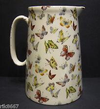 Heron Cross Pottery Butterfly 4 Pint English Milk Jug Or A very big (vase)