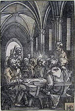 "HANS SEBALD BEHAM Original Vintage 1521-35 Woodcut ""The Last Supper"" - Rare"