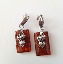 925 sterling silver Baltic Amber earrings