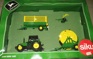 SIKU FARMER - JOHN DEERE 3400 Traktor SET - WERBEMODELL Promo -  in OVP - 1:32