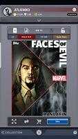 Topps Marvel Card Trader Collect Mandarin Digital Faces Evil Motion Super Rare